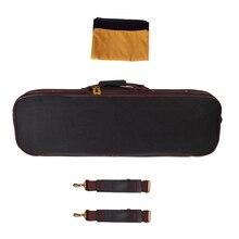 4/4 полноразмерный Жесткий Чехол для скрипки, сумка для хранения скрипки, сумочка, встроенный гигрометр с замком, мягкая пена черного цвета