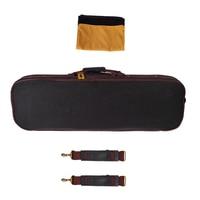 4/4 Full Size Violin Hard Case Fiddle Storage Bag Handbag Built in Hygrometer Lock Padded Foam Black