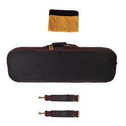 4/4 Full Size Violin Hard Case Fiddle Storage Bag Handbag Built-in Hygrometer Lock Padded Foam Black
