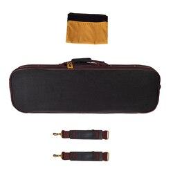 4/4 volle Größe Violine Harte Fall Geige Lagerung Tasche Handtasche Eingebaute Hygrometer Schloss Gepolsterte Schaum Schwarz