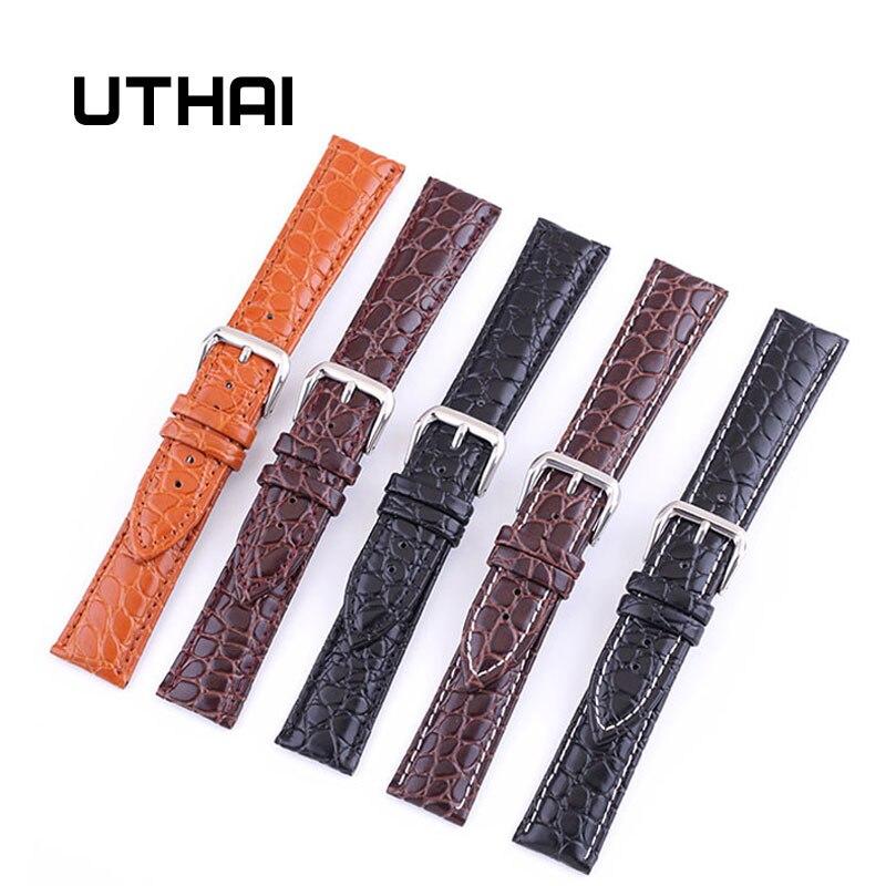 UTHAI P02 20mm Watch Strap Genuine 22mm Watch Band 12-24mm Watch Accessories High Quality 18mm Leather Watch Strap Watchbands
