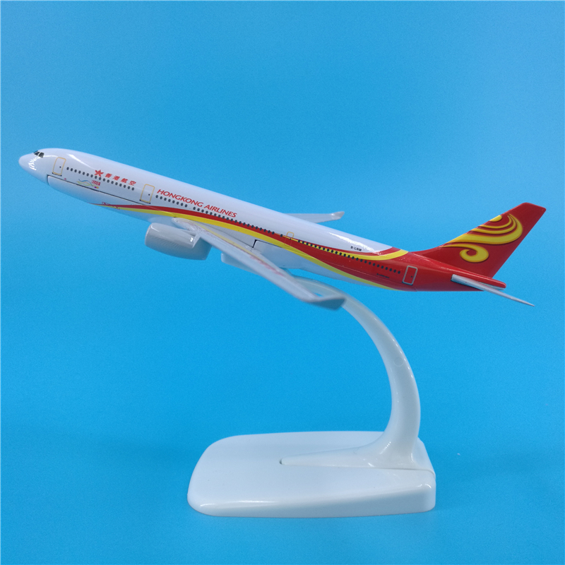 16cm Hong Kong Airlines A330 Alloy Aircraft Model 1:400 HK A330 Airbus Airplane Model Aviation Collection Gift Ornaments Toys image