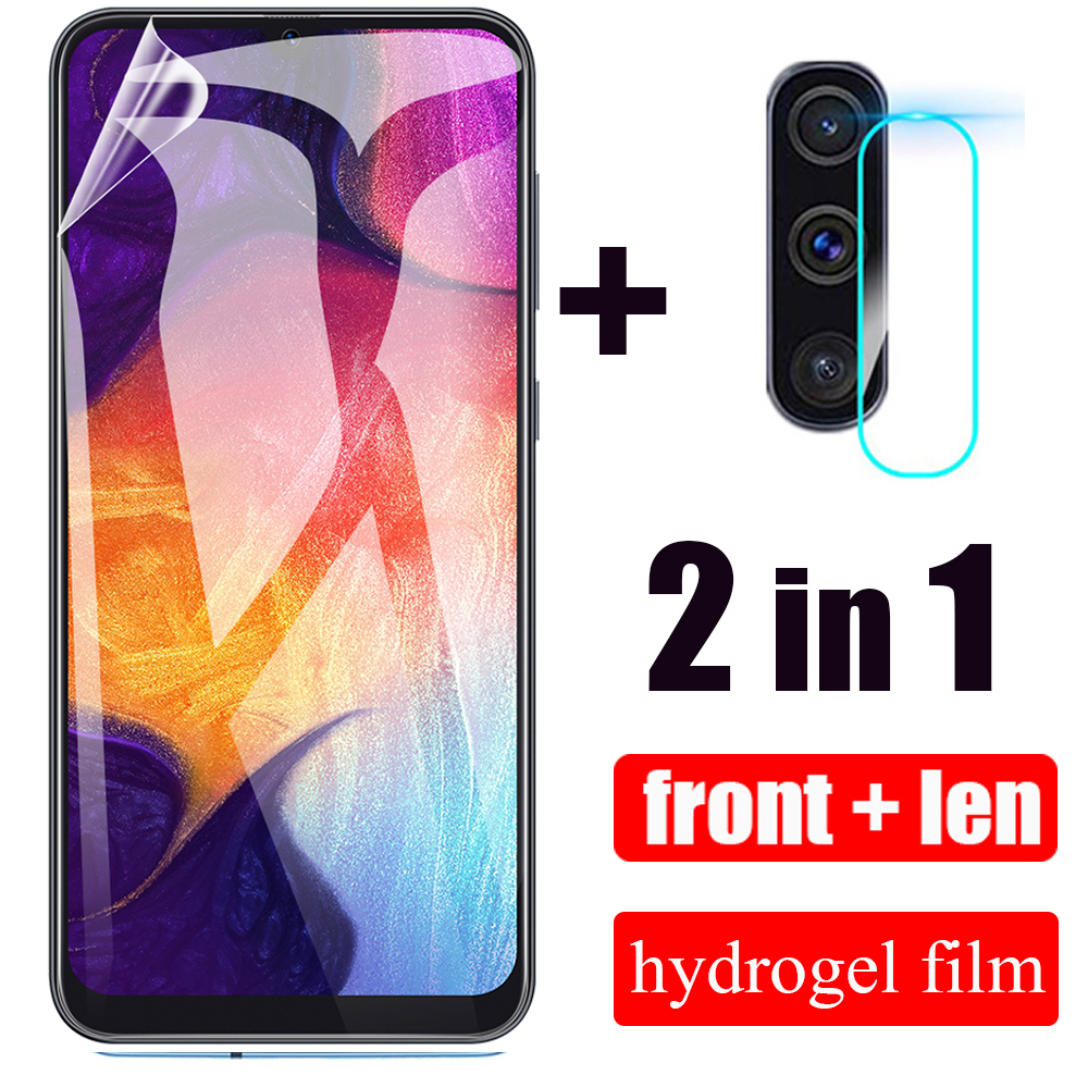 <font><b>2</b></font> in <font><b>1</b></font> Hydrogel Film For Samsung Galaxy A50 A10 20 30 31 40 S Camera Len Film For Samsung Galaxy A51 60 70 71 <font><b>80</b></font> 90 91 M10 20 40 image