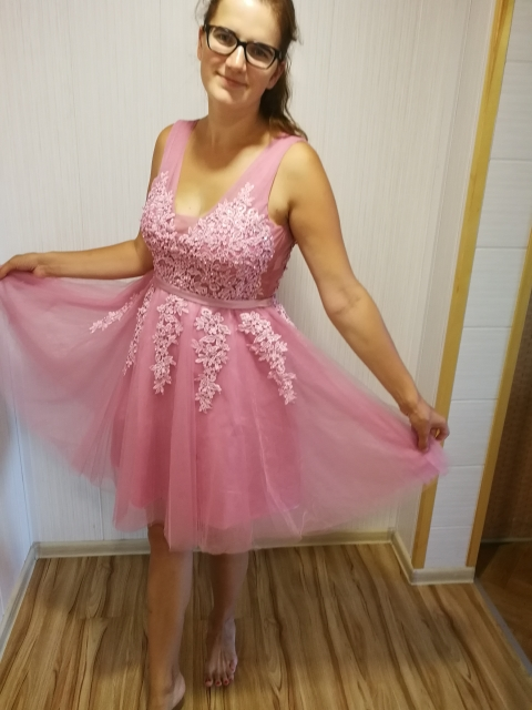 Горячая Распродажа, Коктейльные Вечерние платья, короткое, Vestido de Festa, Мини сексуальное платье с аппликацией, v-образным вырезом, бисером и жемчугом - Цвет: dark pink