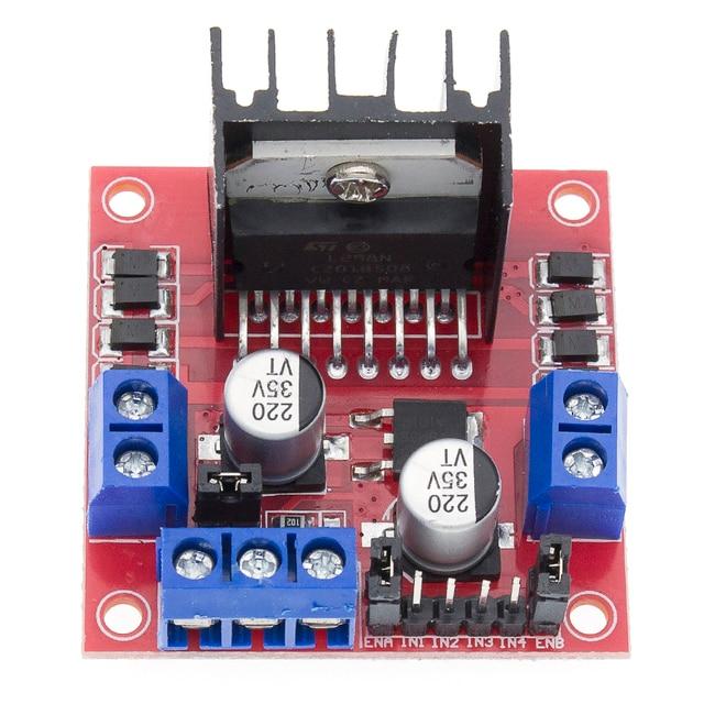 무료 배송 50 개/몫 l298n 모터 드라이버 보드 모듈 l298 스테퍼 모터 스마트 자동차 로봇