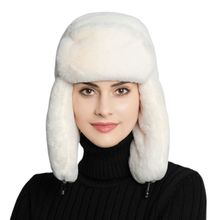 Womens New Winter Hat Warm Earflap Trapper Russian Thicken Lining Snow Skiing Wi