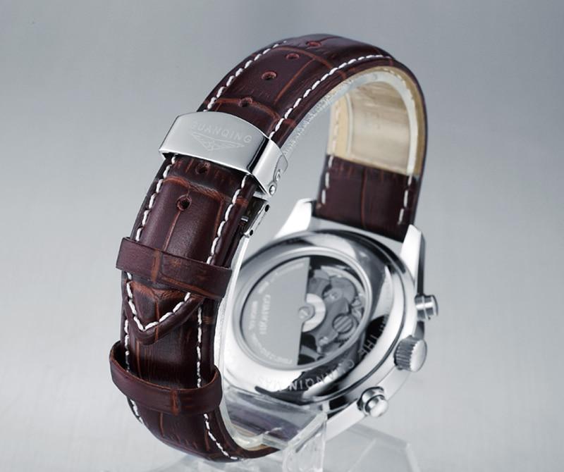 H77316ddd202b49ca98518d60e0c43f63s GUANQIN Automatic Mechanical Men Watches Top Brand Luxury Waterproof date Calendar Moon Leather Wristwatch Relogio Masculino A