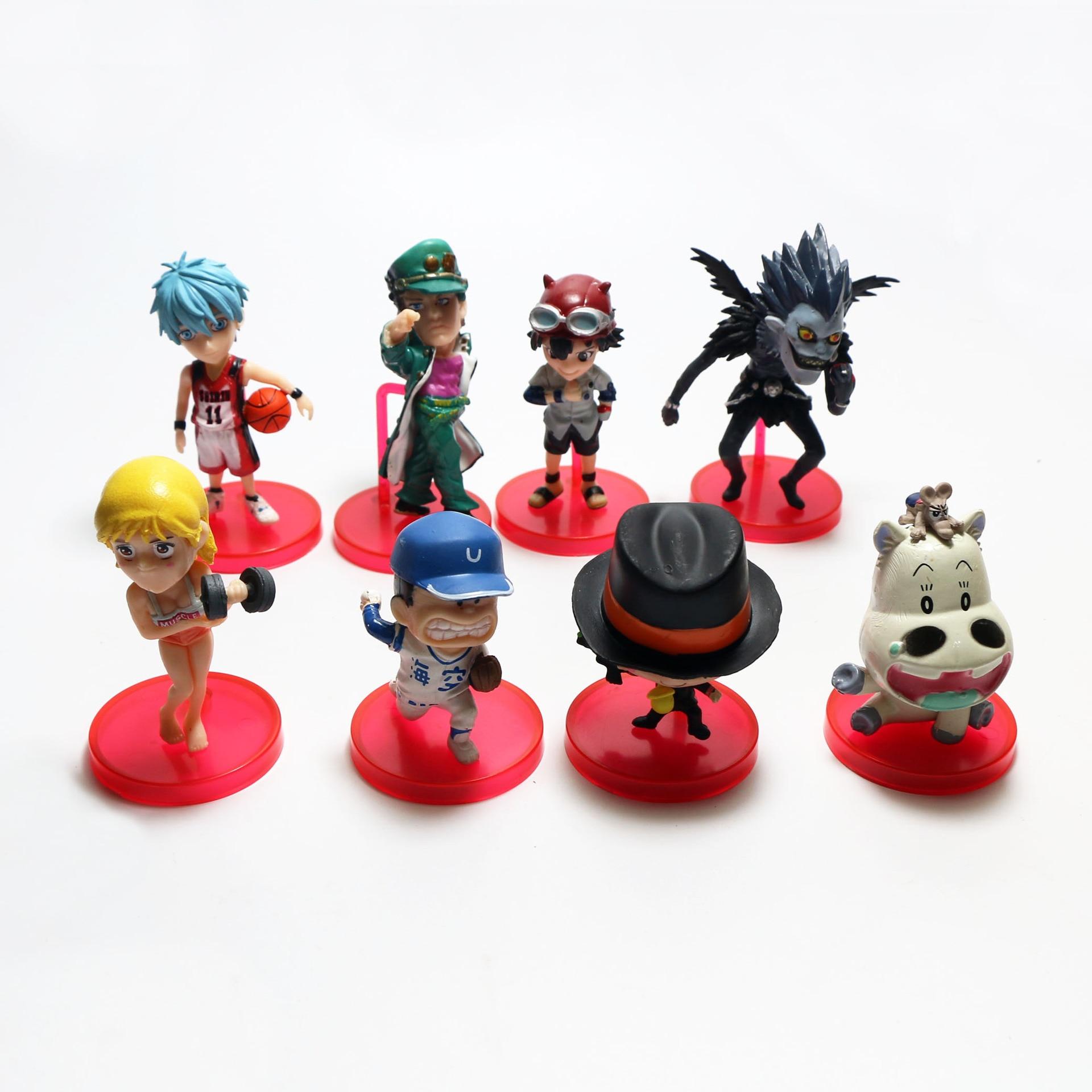 8 anime sports dolls pirates hand dolls model ornaments doll car ornaments cake ornaments toys