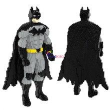 3378pcs 9887 Super Hero Block Bat Model Man Dark 3D Model DIY Diamond Mini Building Small Blocks Bricks Toy for Children No Box