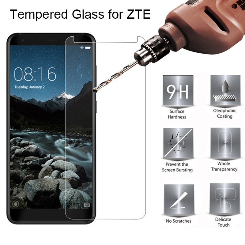 Screen Protector For ZTE Blade V7 Lite V6 V Plus Tempered Glass For Zte Nubia V9 Vita V8 Mini Protective Glass On V7 Max V8 Pro