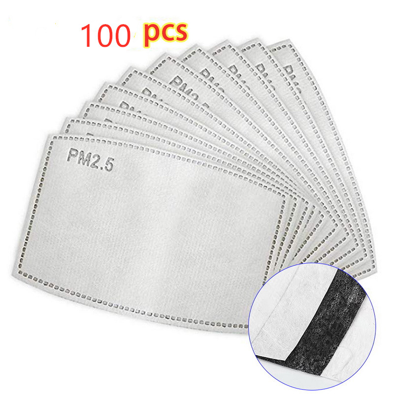 100pcs/Lot PM2.5 Filter Paper Anti Haze Mouth Mask Anti Dust Mask Activated Carbon Filter Paper Health Care In Stock