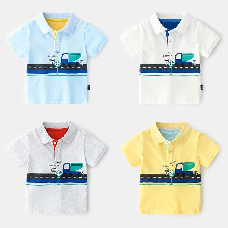 Boys Tees And Polos Breathable Polo Shirt Kids Boys Summer Short Sleeve Polo Shirt For Boy. School Clothes