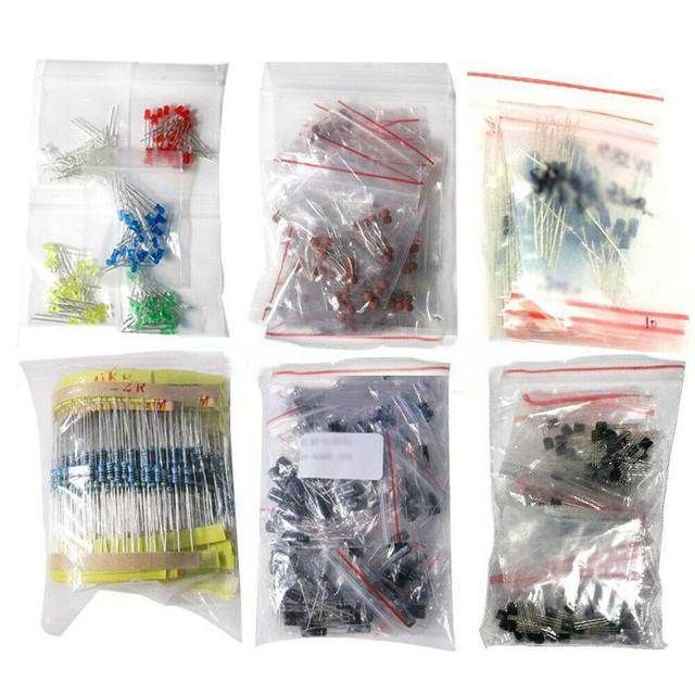 1390pcs Electronic Components Basic Starter Kit LED Diode Transistor Capacitor Resistance Potentiometer Kit For Electrician