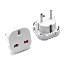 UK To EU Plug Adapter United Kingdom European Universal AC Travel Power Converter Outlet