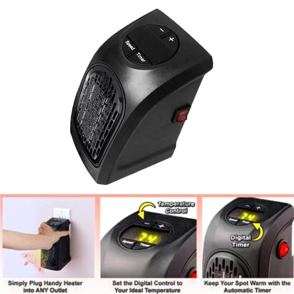 Mini Electric 300W Hand Warmer Wall Mounted Heater Handy Heater Stove Hand Warmer Fan Plug-In Electrica Home Hotel Travelling