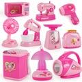 ミニキッチンおもちゃライトアップ & サウンドプラスチックシミュレーション家電ハウス玩具ベビー女の子ためのおもちゃを再生ふり子供子供