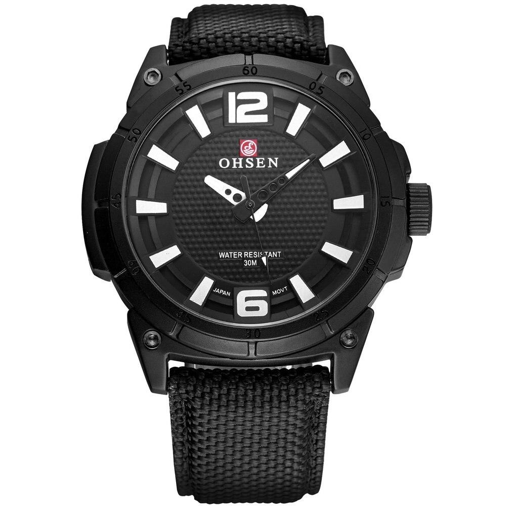 OHSEN Brand Quartz Alloy Case Full Black Cool Sport Watch Reloj Hombre Hour Clock Male Relogio Masculino Dress Watches / OHS251