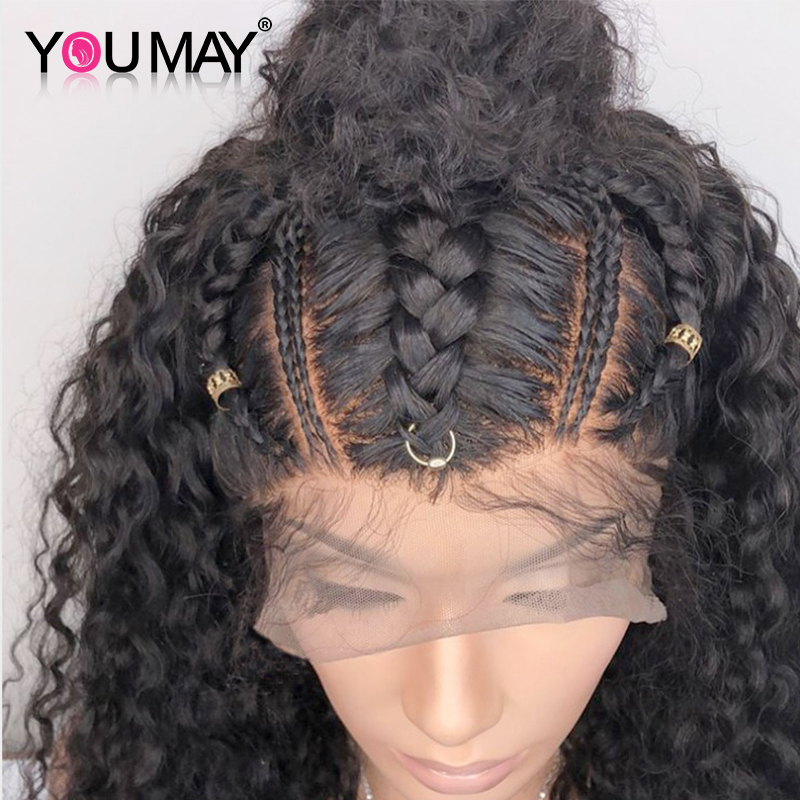 Fake Scalp 13X6 Lace Front Human Hair Wigs Pre Plucked For Women 180 Density Brazilian Curly Wig With Baby Hair You May Remy