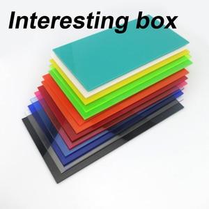 10 * 20cm color acrylic board plexiglass board DIY model material plastic board consumables can be customized