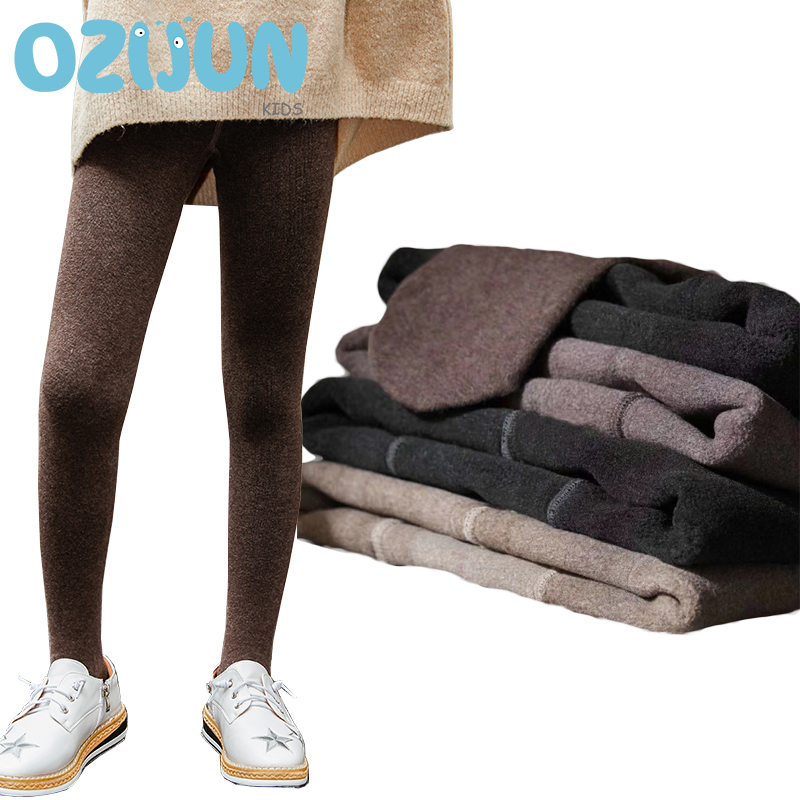 New Arrivals Winter Style Children Wool Pantyhose With Fleece Warm Lining Skinny Warm Thick Tights Fleece Lined Kids Tights