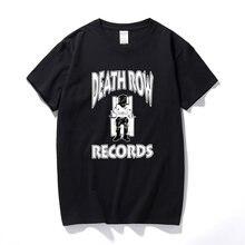 T-SHIRT de Rap «DEATH ROW» à manches courtes, avec image du dr. Dre des années 90, Snoop, chien de la côte ouest, été