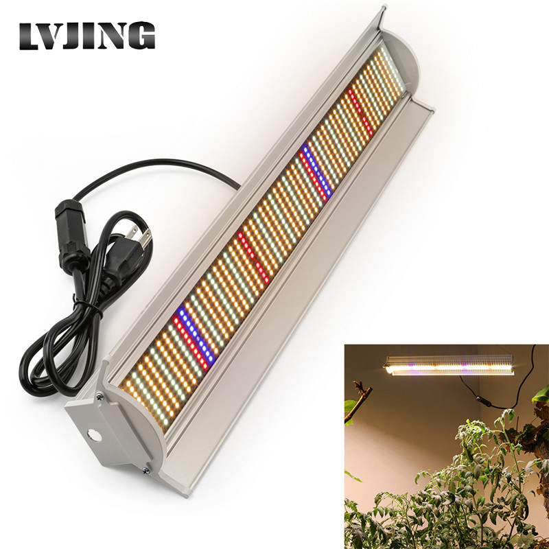 LVJING Full Spectrum LED Grow Light 560LEDs PCBA 280W Hydroponic Growing Lamp Tube Indoor Seedling Plant Growth Lighting W/ Plug