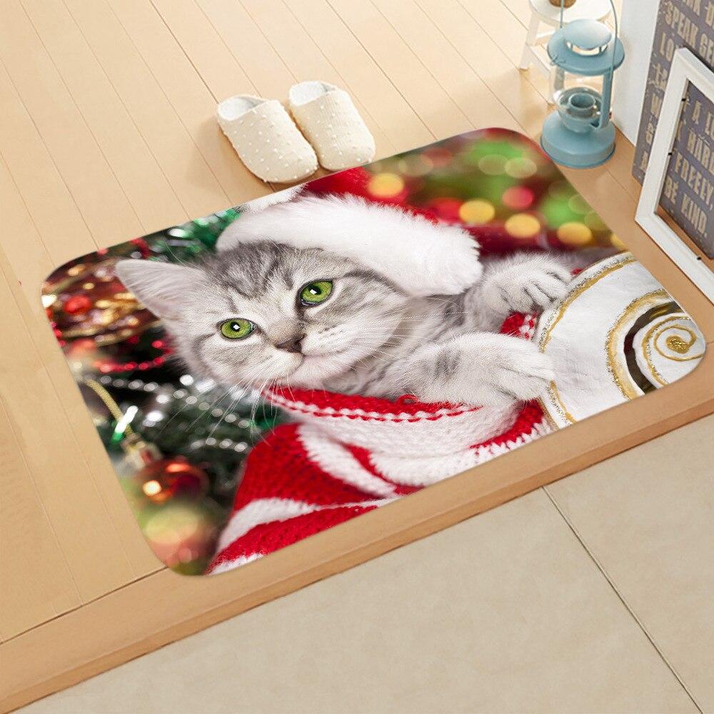 Рождественский Придверный коврик для дома гостиной уличные ковры