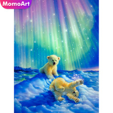 MomoArt Diamond Embroidery Animal Winter Painting Full Square/round Stones Mosaic Bear Wall Decoration