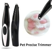 2.0 versão pet precisa aparador de pêlos do cão grooming barbeador local usb recarregável máquina clipper gato para as orelhas olhos pés costuraAparadores de pelo de cachorro