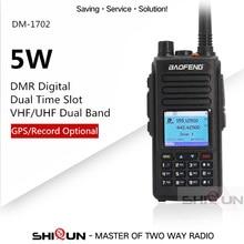Baofeng DMR GPS Dual Band VHF UHF Dual Zeit Slot Tier 1 Tier2 Upgrade DM 1702 DMR Digitale Walkie Talkie mit voice Record GPS