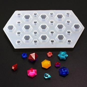 DIY Silicone Mould Kit 230*120*25mm Diamond Jewelry Pendant Resin Craft soap chocolate Making Molds image