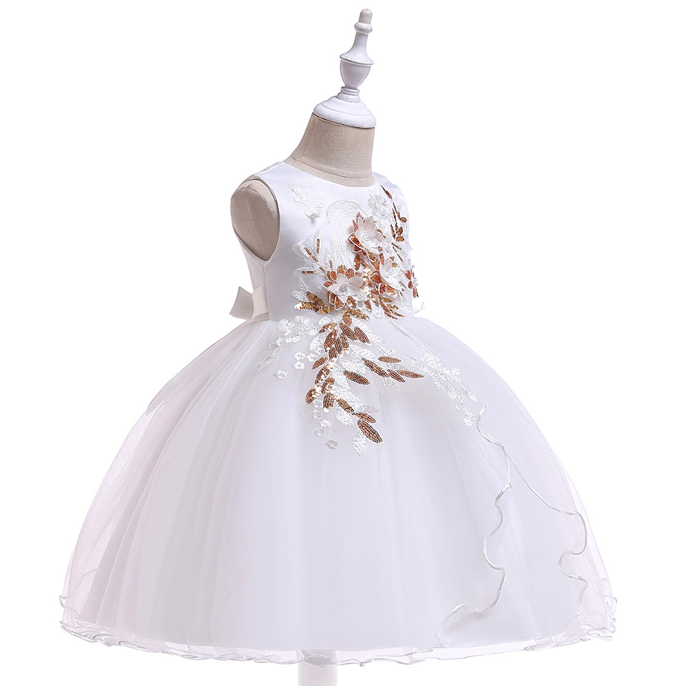 2019 New Style Big Boy Formal Dress GIRL'S Gown Princess Dress Beads CHILDREN'S Wedding Dress Catwalks Late Formal Dress