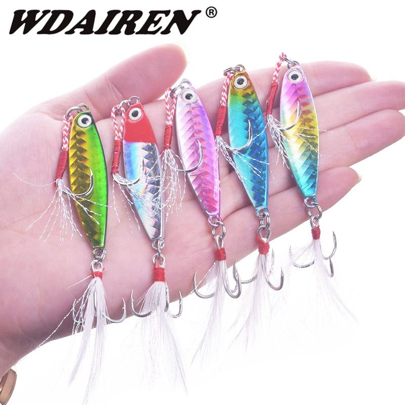 1x Luminous Metal Spinner Spoon Lure 6.5cm//13g Jig Fishing Lure Jigging Bait New
