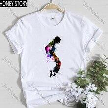 Fashion King of Pop Michael Jackson T shirt Women MJ OLODUM Female T-shirt Harajuku Print Tshirt Hip Hop Streetwear Tops