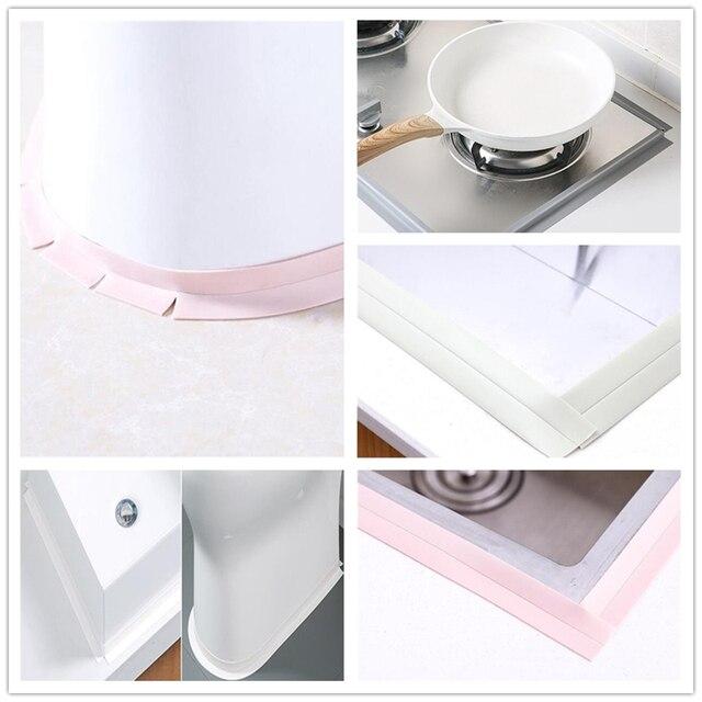 Edges Tape Self Adhesive Anti-moisture Wall Bathroom Sticker Kitchen Bedroom Acc