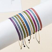 ZMZY Boho Colombian Wayuu Bracelet Braided Bracelet For Women Pattern Boho Jewelry Pulseras