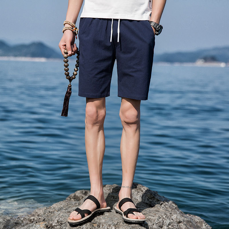 [Special Offer 16 Yuan] New Style Summer Pure Cotton Casual Shorts MEN'S Fifth Pants Cotton Linen Breathable Large Size Beach Sh