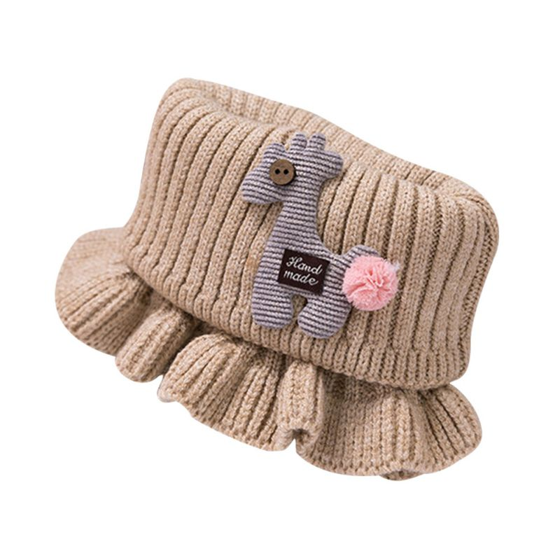 Шарф для маленьких мальчиков и девочек; зимний теплый шарф с рисунком лошади; плотные шарфы с воротником для новорожденных; шейный платок для малышей; - Цвет: K