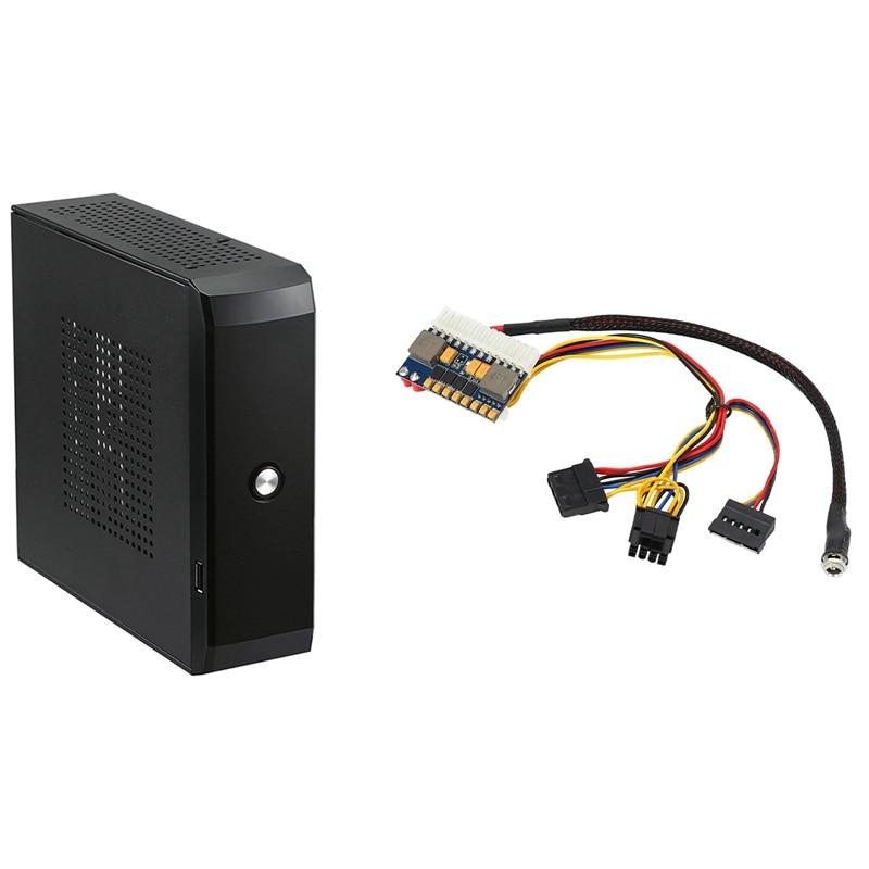 Dc Atx Peak Psu 19V 200W Pico Atx Switch Mining Psu 24Pin Mini Itx Dc to Atx Pc Power Supply & HTPC Computer Case