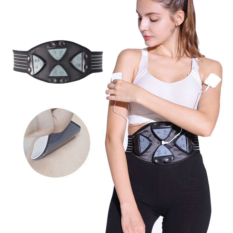 Abdominal Muscle Stimulator Trainer EMS Smart Fitness Abs Training Electric Weight Loss Belt Body Slimming Massage 4 Controllers