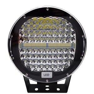 Image 3 - Safego faro LED de 9 pulgadas y 408W para coche, foco de trabajo, antiniebla de conducción, funda negra roja para camión Tractor ATV UAZ SUV 4WD 4x4