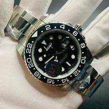 GMT-Reloj Automático U1 de fábrica para hombre, esfera de cerámica negra, cristal de zafiro, agujas luminosas, deportivo, de lujo, envío gratis