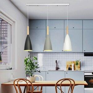 Image 2 - Vintage lamparas colgantes modernas living de techo moderna LED decoracion dormitorio Art comedor moderno Lampara E27 Nordic colgante luces para salon restaurantes bar