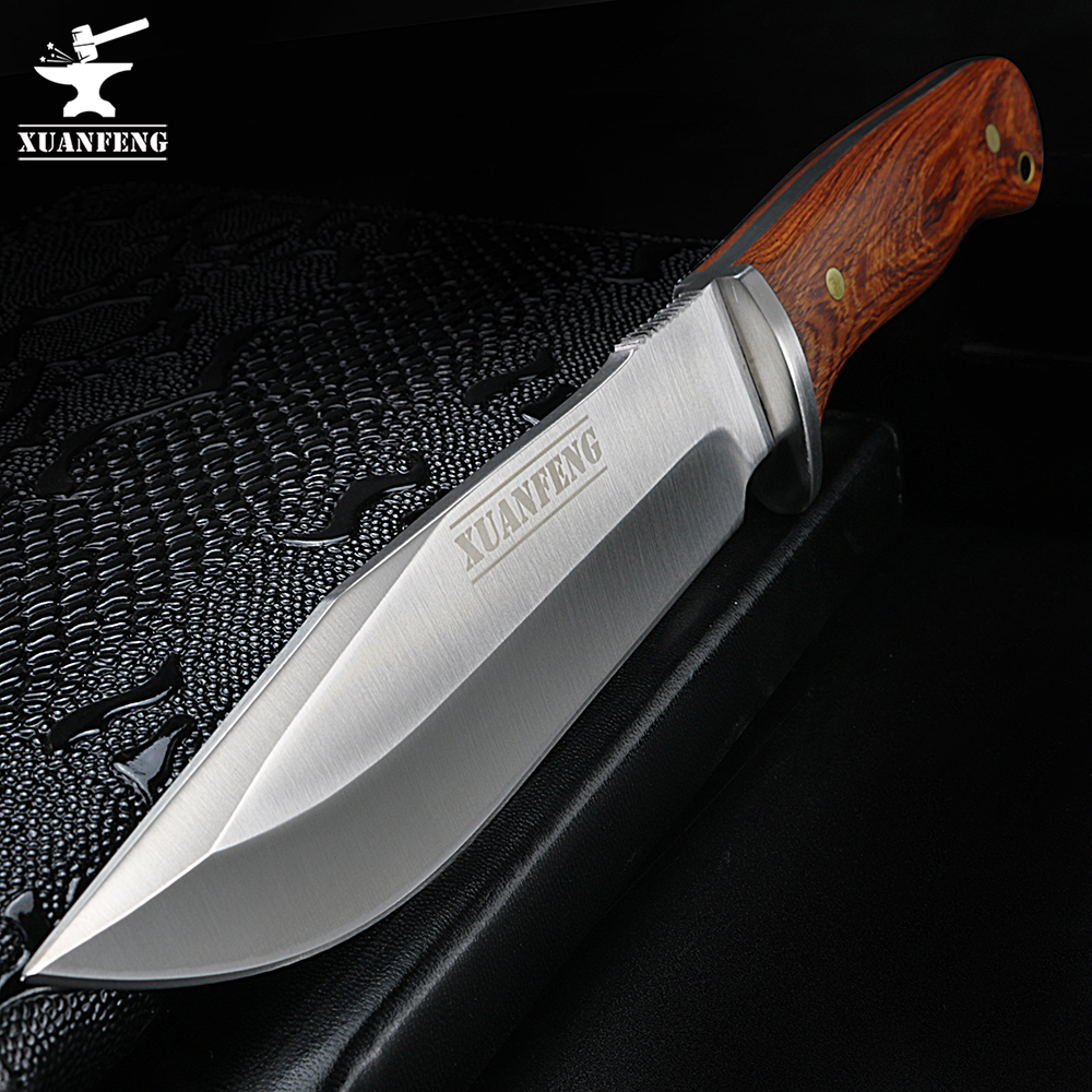 XUAN FENG D2 Steel Knife High Hardness Outdoor Knife Portable Short Field Survival Equipment Cold Weapon Saber