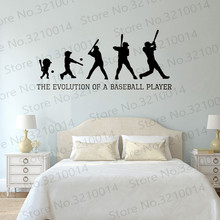Baseball Evolution Wall Decal The Of A Player Fashion Sticker PW455