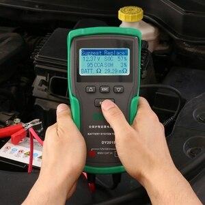 Image 5 - DY2015A 12V 24V רכב סוללה בודק כלים עופרת חומצה CCA עומס סוללה תשלום מבחן דיגיטלי רכב סוללה קיבולת tester