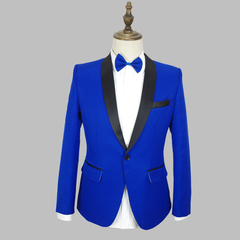 S-4XL Men Suits Royal Blue  Jacket Slim Male Singer Clothes Party Wear GoGo Dance Outfit Prom Suit Set Stage Costume VDB808