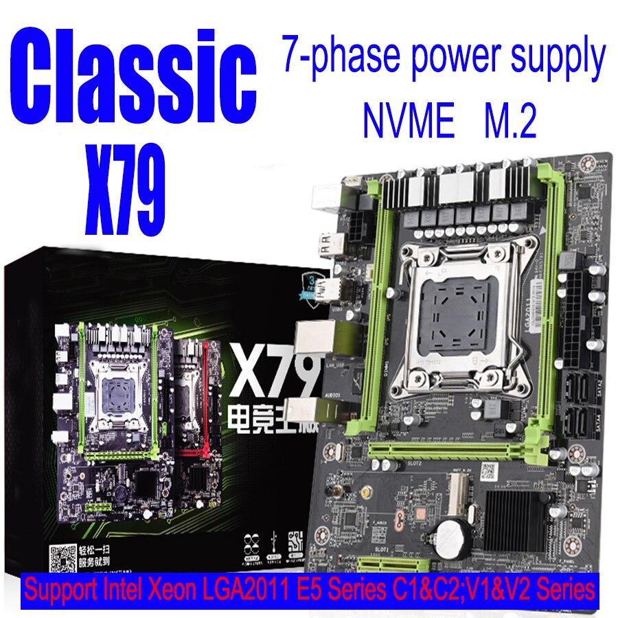 E5-Processor Xeon SATA X79 M3 M.2 Memory Support SSD REG USB2.0 ECC And Pci-E-Nvme M-ATX