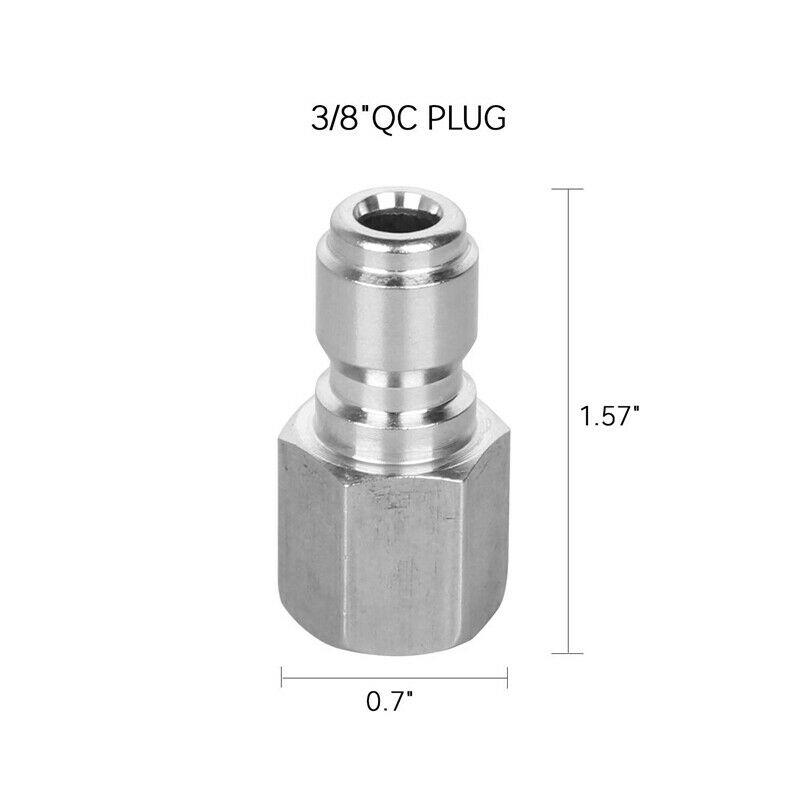 Female Male Adapter Set Quick Connect Connector 5000 PSI Stainless Steel