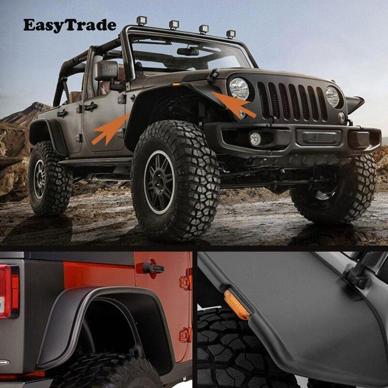 For Jeep Wrangler JK 2008 2017 Wide Style Protector For Fender Mud Flaps Mudguards Splash Guards|Mudguards| |  - title=